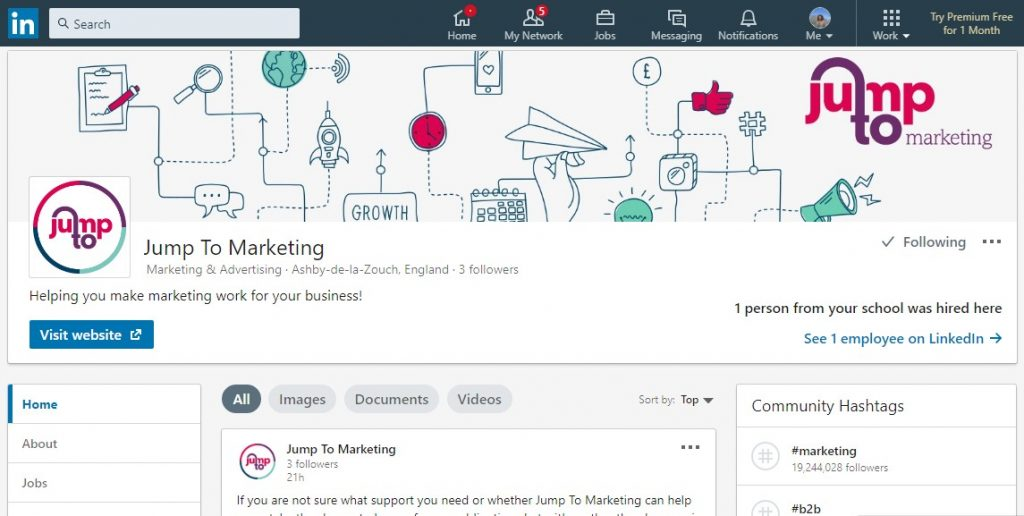 Jump To Marketing on LinkedIn